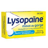 LysopaÏne Comprimés à Sucer Maux De Gorge Sans Sucre 2t/18 à PÉLISSANNE
