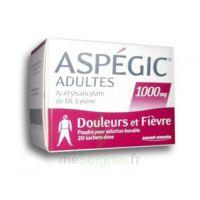 ASPEGIC ADULTES 1000 mg, poudre pour solution buvable en sachet-dose 20 à PÉLISSANNE