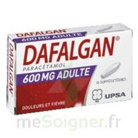Dafalgan 600 Mg Suppositoires Adulte Plq/10 à PÉLISSANNE