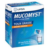 MUCOMYST 200 mg Poudre pour solution buvable en sachet B/18 à PÉLISSANNE