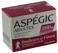 ASPEGIC ADULTES 1000 mg, poudre pour solution buvable en sachet-dose 15 à PÉLISSANNE