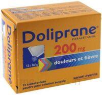 Doliprane 200 Mg Poudre Pour Solution Buvable En Sachet-dose B/12 à PÉLISSANNE