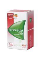 Nicorette 2 mg Gomme à mâcher médicamenteuse sans sucre fruits Plq/105 à PÉLISSANNE