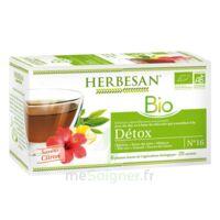 Herbesan Infusion Bio Tisane Détox 20 Sachets à PÉLISSANNE