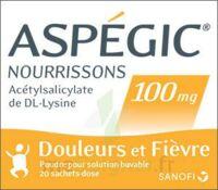 ASPEGIC NOURRISSONS 100 mg, poudre pour solution buvable en sachet-dose à PÉLISSANNE