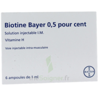 Biotine Bayer 0,5 Pour Cent, Solution Injectable I.m. à PÉLISSANNE