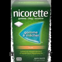 Nicorette 2 mg Gomme à mâcher médicamenteuse sans sucre fruits Plq/30 à PÉLISSANNE