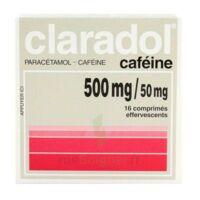 Claradol Cafeine 500 Mg/50 Mg, Comprimé Effervescent à PÉLISSANNE
