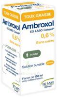 AMBROXOL EG LABO CONSEIL 0,6 %, solution buvable à PÉLISSANNE