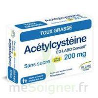 ACETYLCYSTEINE EG LABO CONSEIL 200 mg SANS SUCRE, poudre pour solution buvable en sachet-dose à PÉLISSANNE
