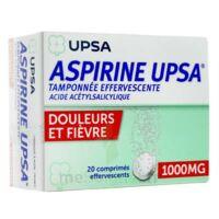 ASPIRINE UPSA TAMPONNEE EFFERVESCENTE 1000 mg, comprimé effervescent à PÉLISSANNE
