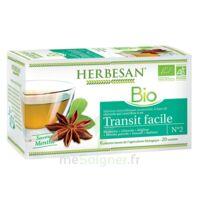 Herbesan Infusion Bio Tisane Transit Facile 20 Sachets à PÉLISSANNE