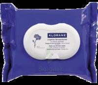 Klorane Soins Des Yeux Au Bleuet Lingette Démaquillante Biodégradable Pack/25 à PÉLISSANNE