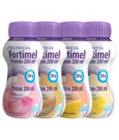 Fortimel Protein Nutriment Multi Saveurs Caramel/vanille/fraise/mangue 4 Bouteilles/200ml à PÉLISSANNE