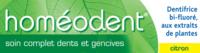Boiron Homéodent Soin Complet Dents Et Gencives Pâte Dentifrice Citron 2t/75ml à PÉLISSANNE