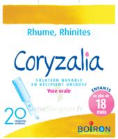 Boiron Coryzalia Solution Buvable Unidose B/20 à PÉLISSANNE