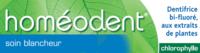 Boiron Homéodent Soin Blancheur Pâte Dentifrice Chlorophylle 2t/75ml à PÉLISSANNE